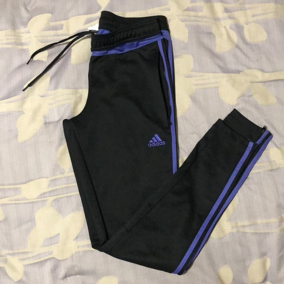 ab6c77ab37f5 adidas Pants - Adidas Tiro 15 black and purple - soccer pants
